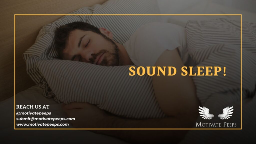 Self care - Tip number 1 - Sound sleep!