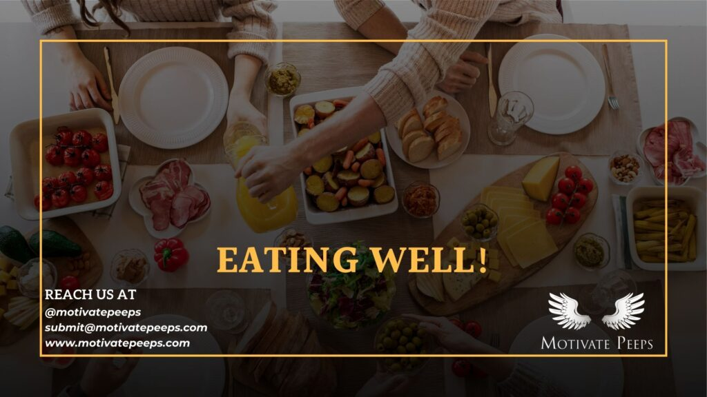 Self care - Tip number 5 - Eating well!